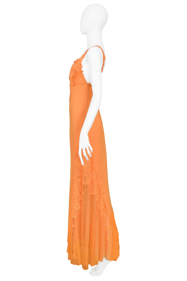 APRICOT LACE RUNWAY GOWN 1997