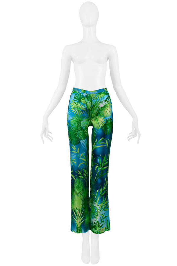 VERSACE ICONIC JUNGLE PRINT SILK PANTS 2000