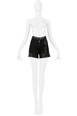 VERSACE COUTURE BLACK SHORTS