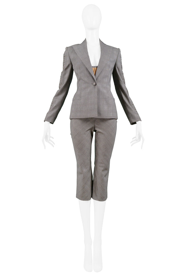 VERSACE COUTURE GREY 4-PIECE PANT SUIT 1998