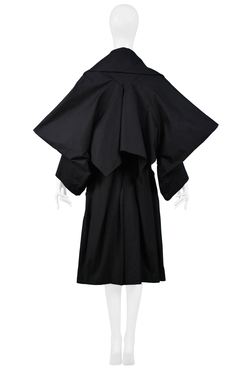 WESTWOOD BLACK 'WITCHES' TRENCH COAT 1983-84