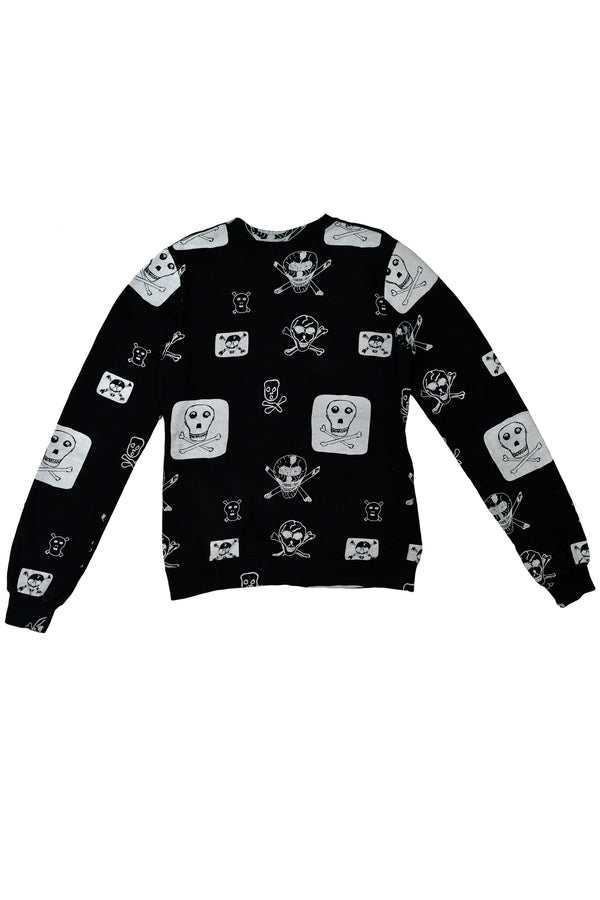 BLACK SKULL & CROSSBONES SWEATSHIRT 2003
