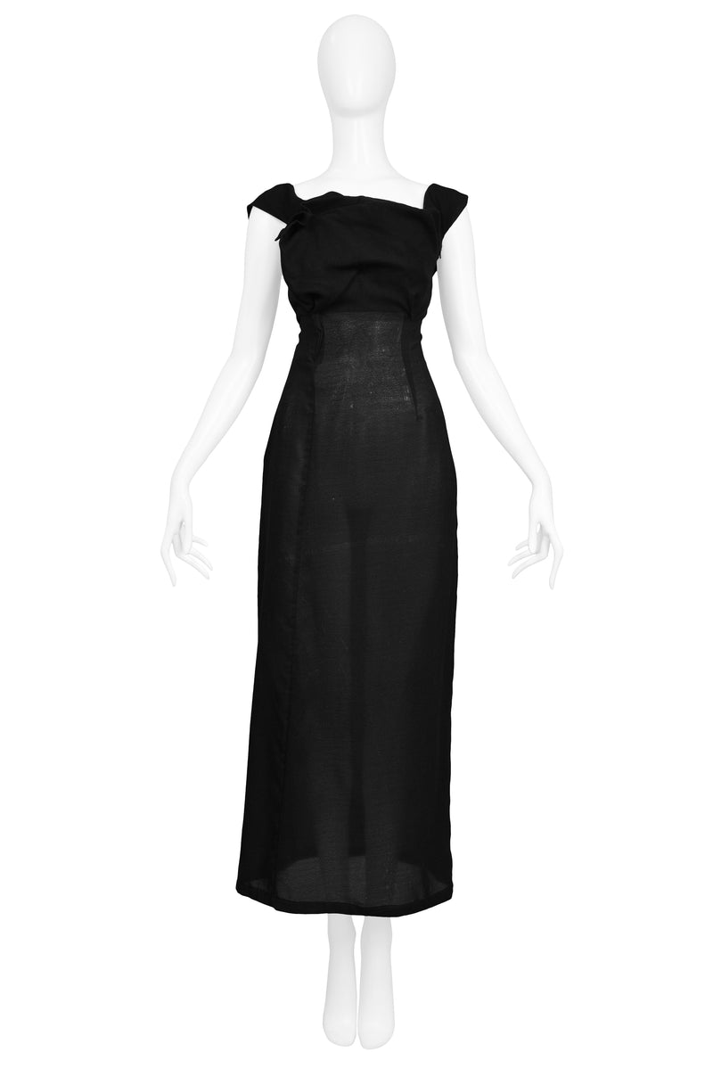 YOHJI YAMAMOTO DECONSTRUCTED PLEATED YOKE DRESS