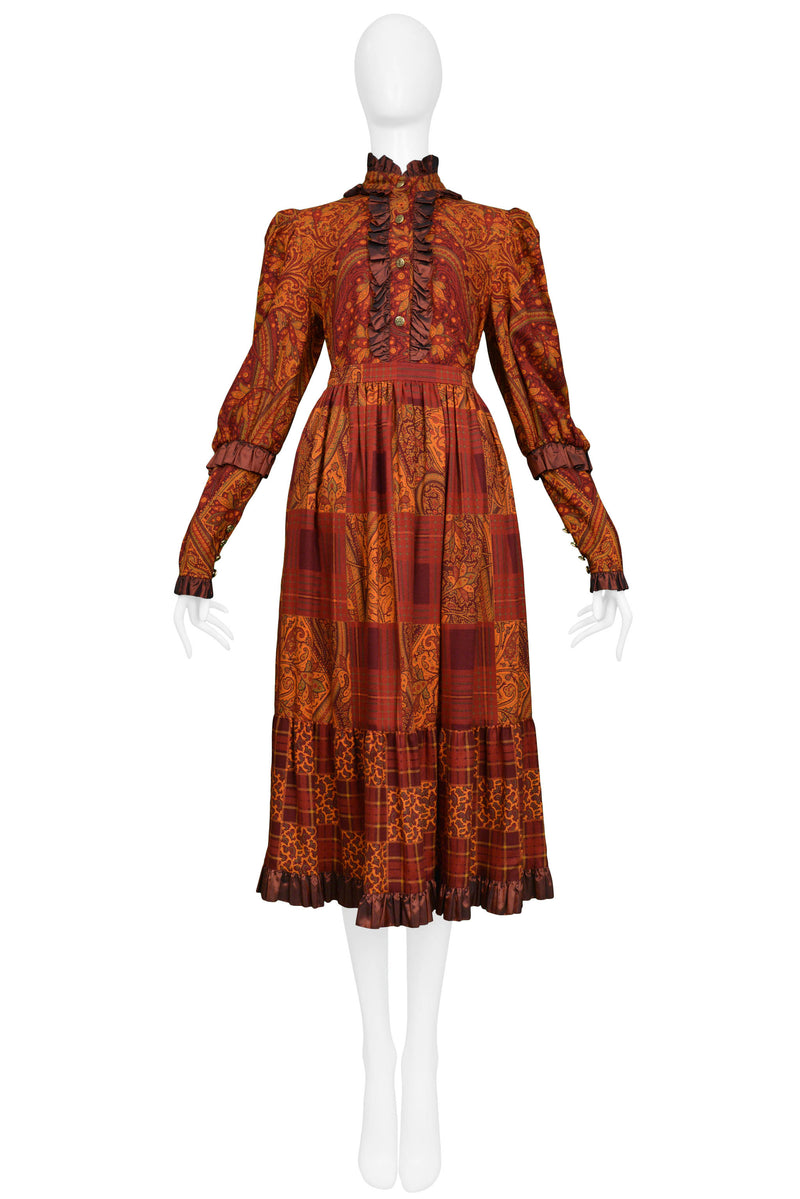 YSL AUTUMN RUST AND ORANGE PAISLEY TWO PIECE