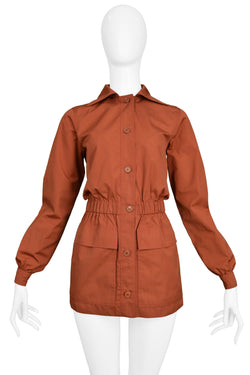 YSL SAFFRON COTTON SAFARI JACKET
