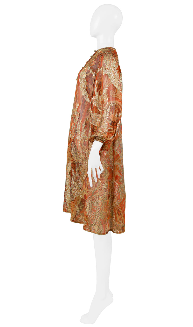 YSL GOLD PAISLEY TUNIC DRESS