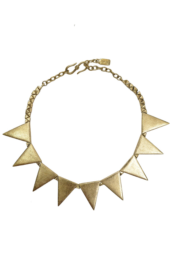 YSL GOLD SPIKE NECKLACE