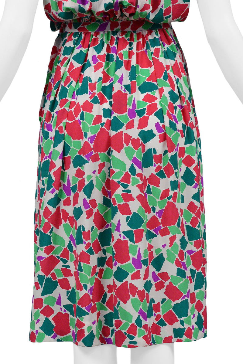 YSL ABSTRACT KEYHOLE DRESS