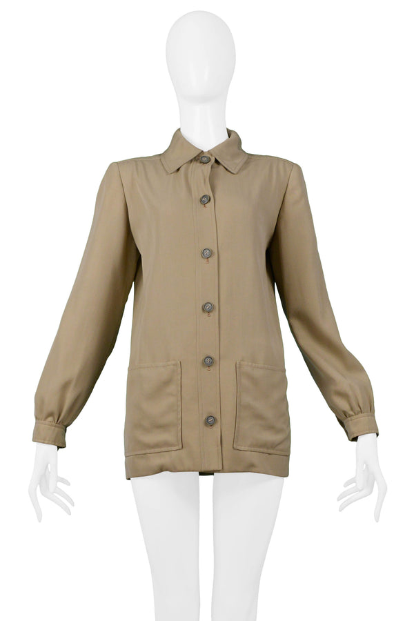 YSL KHAKI SAFARI JACKET