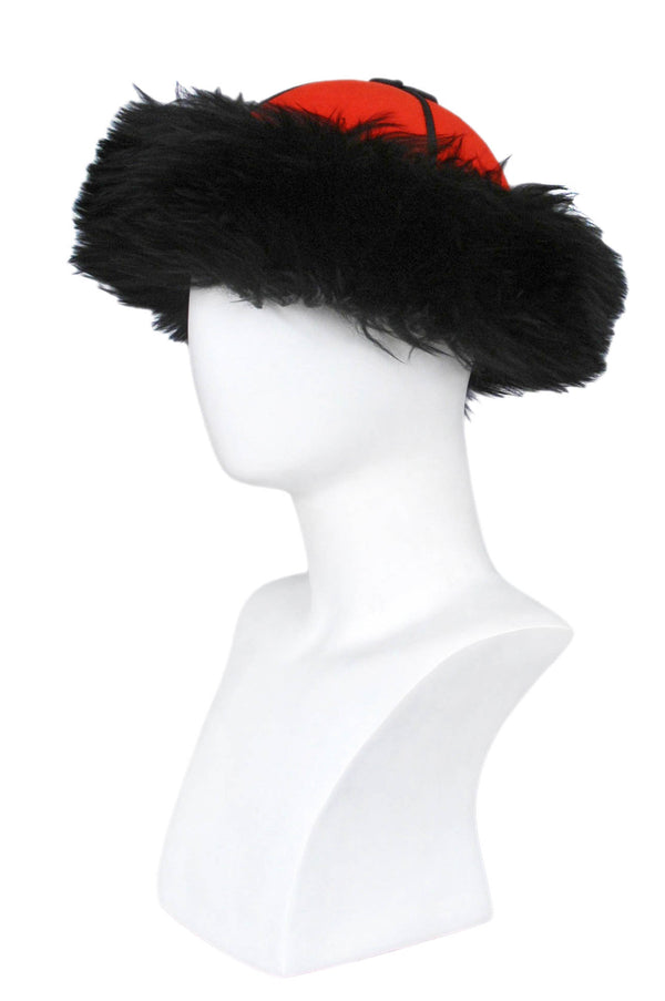 YSL WOOL & FUR RUSSIAN HAT 1976