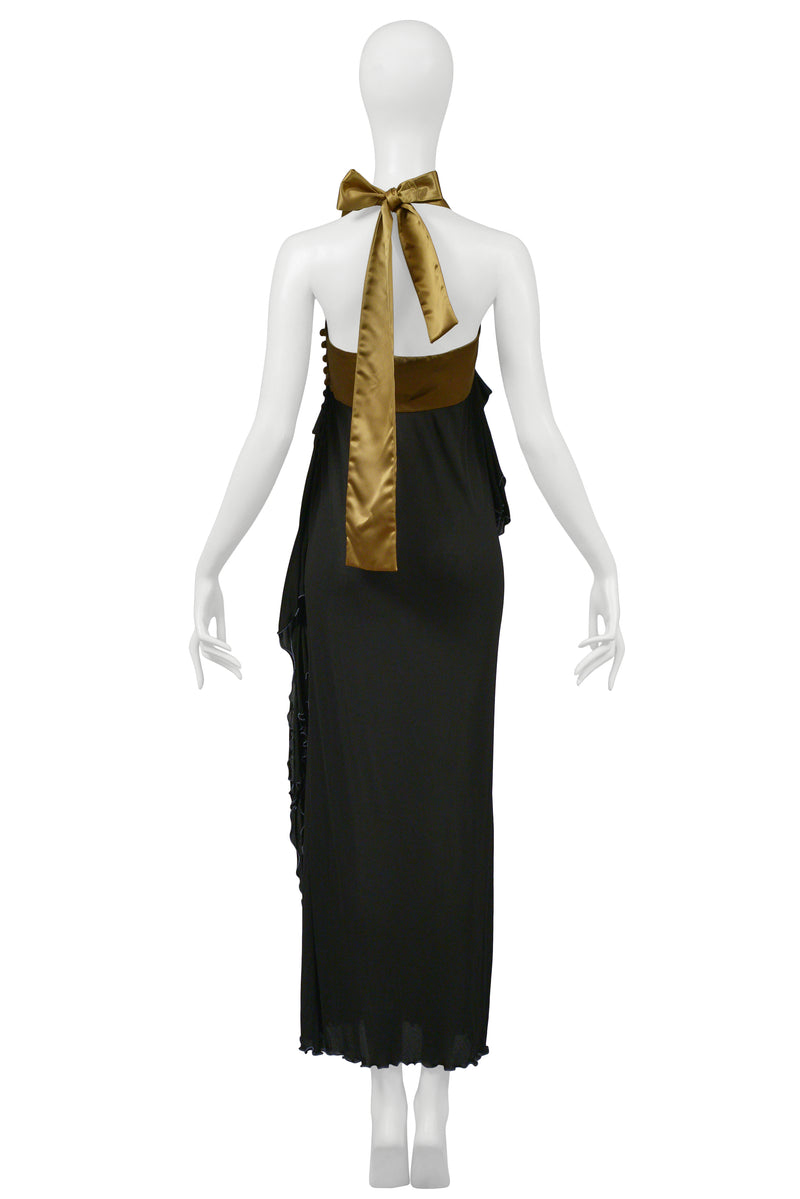 PUNK COUTURE BLACK JERSEY GOWN 1977