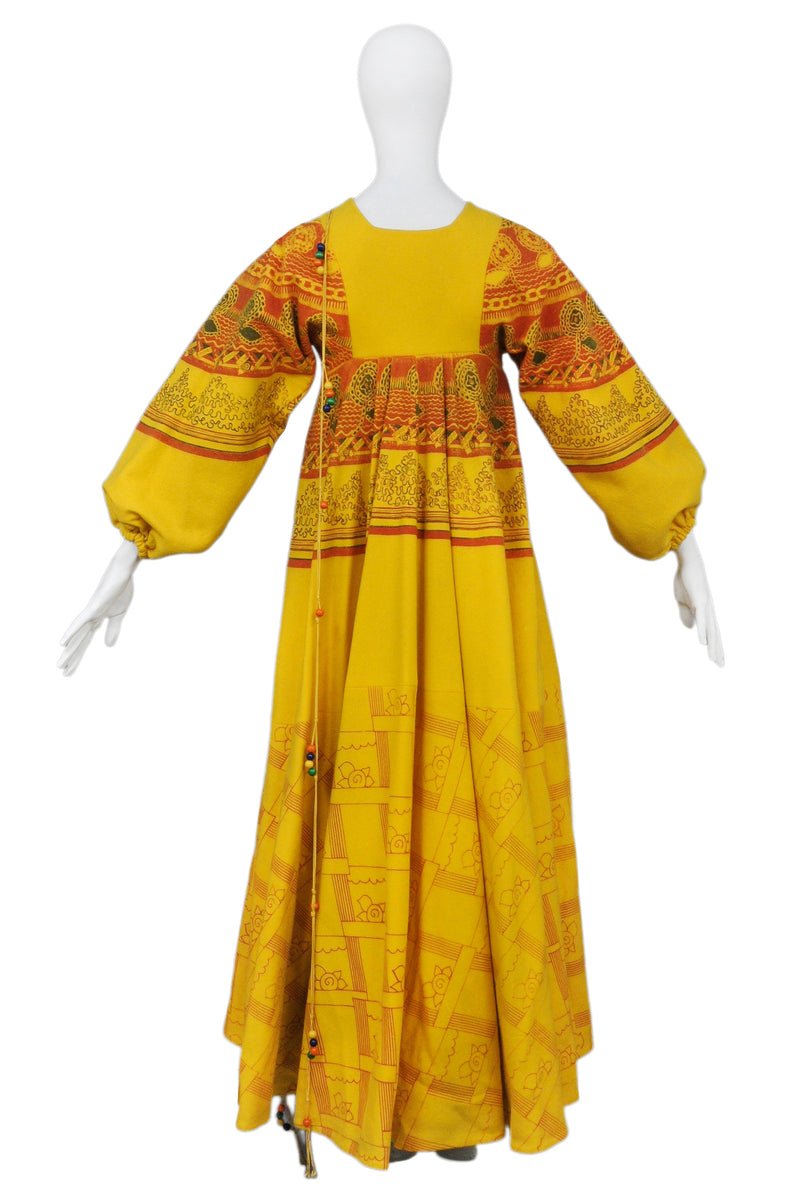 ICONIC YELLOW BUTTERFLY COAT 1969