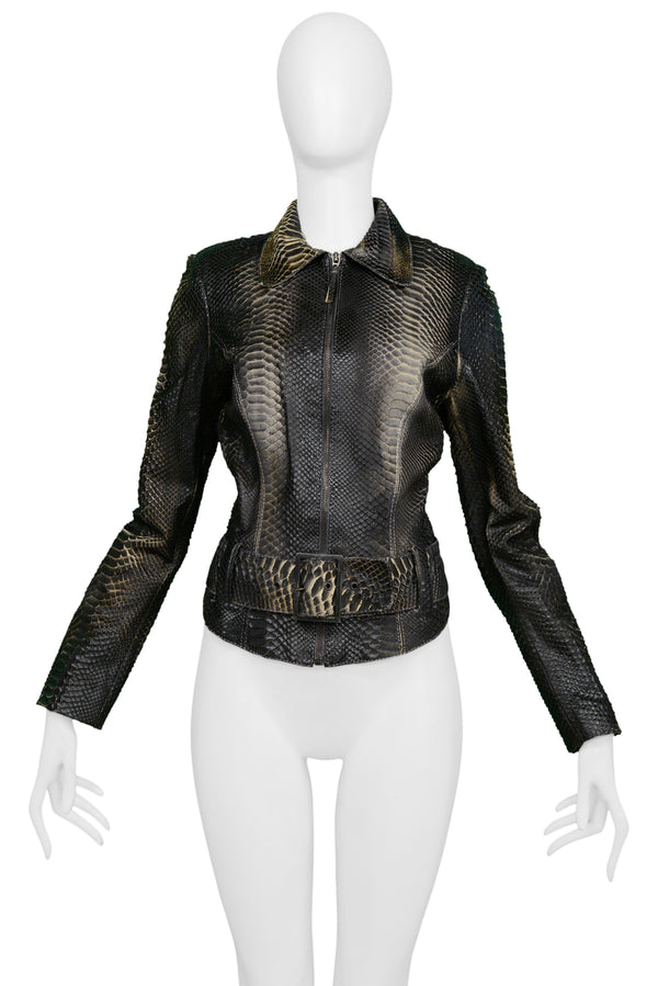 JITROIS BLACK EXOTIC SKIN JACKET