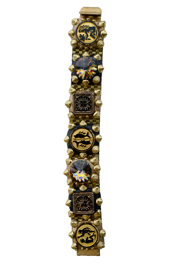 MINADEO LARGE GOLD & BLACK ZODIAC BRACELET