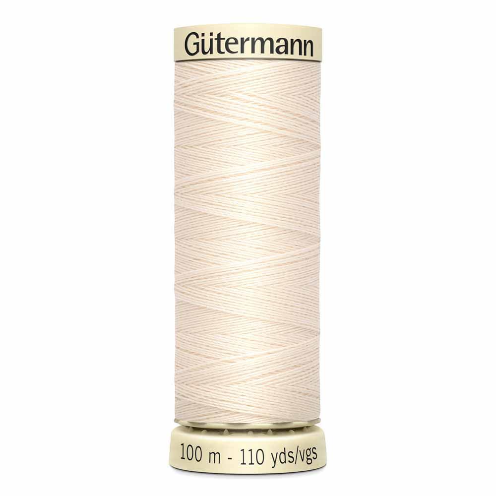 Fil Polyester GÜTERMANN 100m - #22 - Coquille d'oeuf