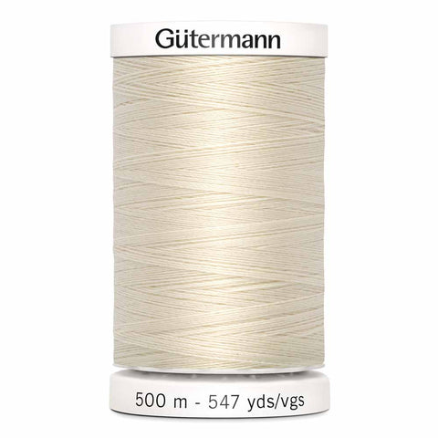 Fil Polyester GÜTERMANN 500m - #22 - Coquille d'oeuf
