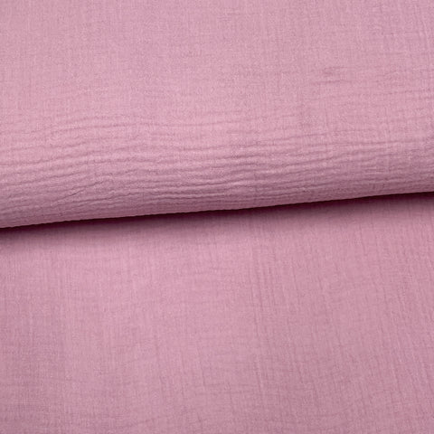 Lilas - Mousseline de coton double gaze