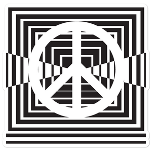 Peace Modern Squares Sticker