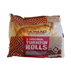 Bread Nomad Turkish Rolls Large 3-pck