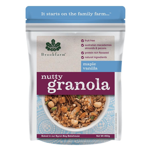 Granola Nutty Maple Vanilla by Brookfarm
