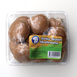 Mushrooms Swiss Brown (200g Punnet)