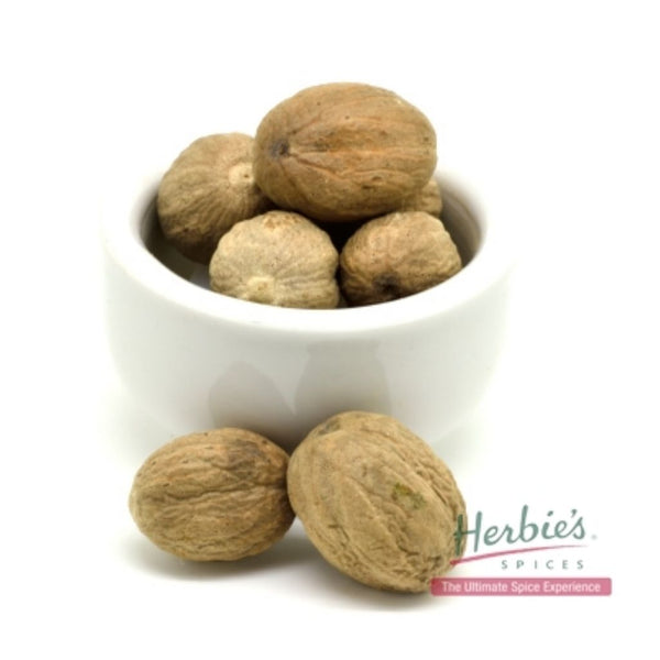 Spice Nutmeg Whole Small Shelled 30g | Herbie's Spices