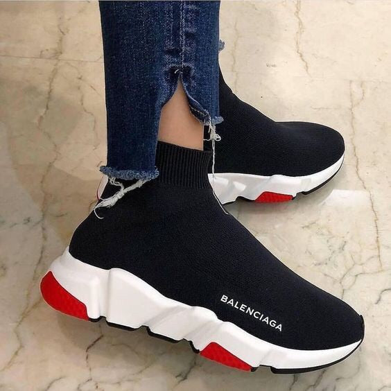 Balenciaga Speed Trainer Black-White-Red