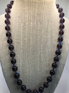 Mauve Hematite Crystal Necklace