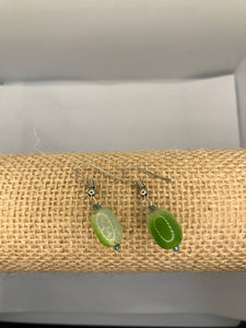 Elegant Green Ceramic Pearl Jewelry Set
