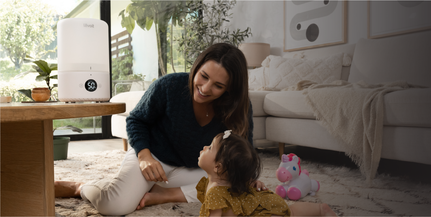 Mother and Daughter with VeSync Dual™ 200S, 2-in-1 Smart Top-Fill Humidifier and Diffuser