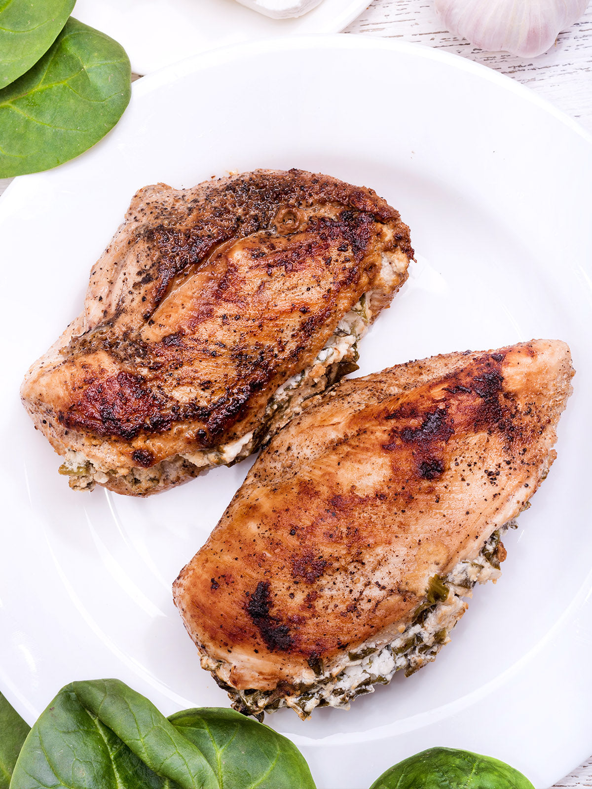 Fennel and Goat Cheese Stuffed Chicken Breasts