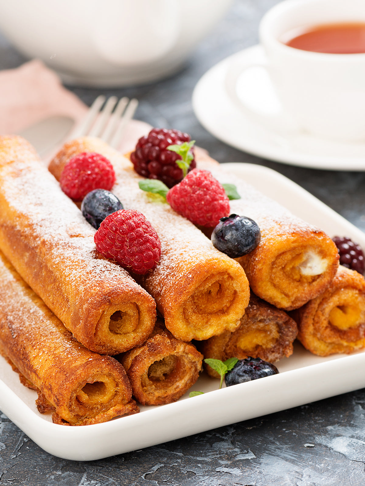 air fryer Healthy French Toast Roll-Ups
