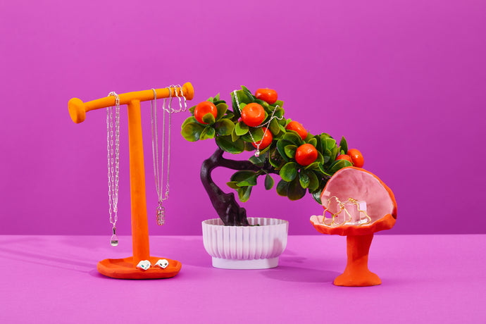Antonia Jane Studio x Sisterfriend - Orange Necklace Stand