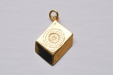Load image into Gallery viewer, solid gold mah jong tile charm by sisterfriend jewelry
