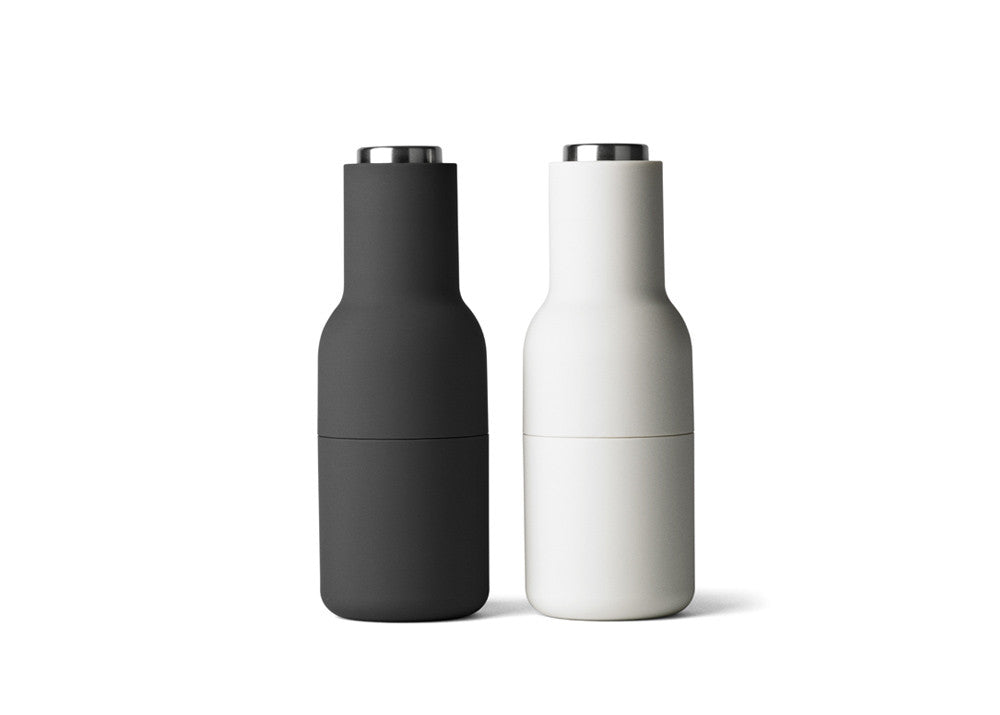 Menu Bottle Grinders - Ash/Carbon - Stainless top