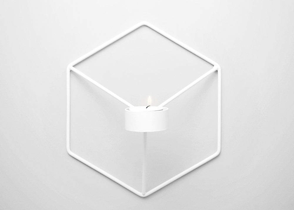 Menu POV Candleholder Wall - White