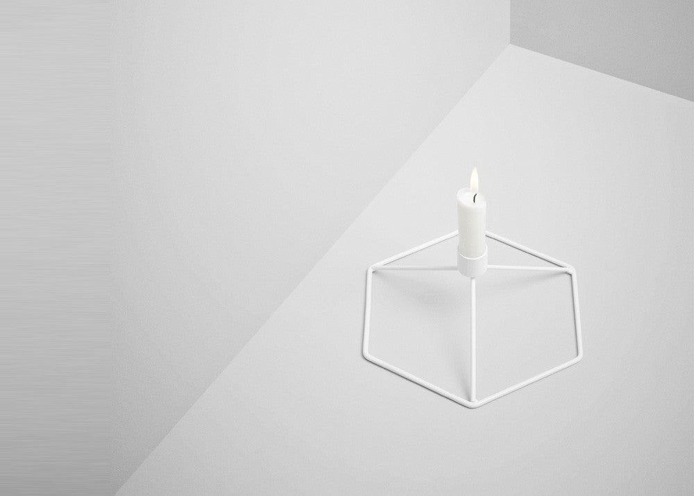 Menu POV Candleholder Table - White