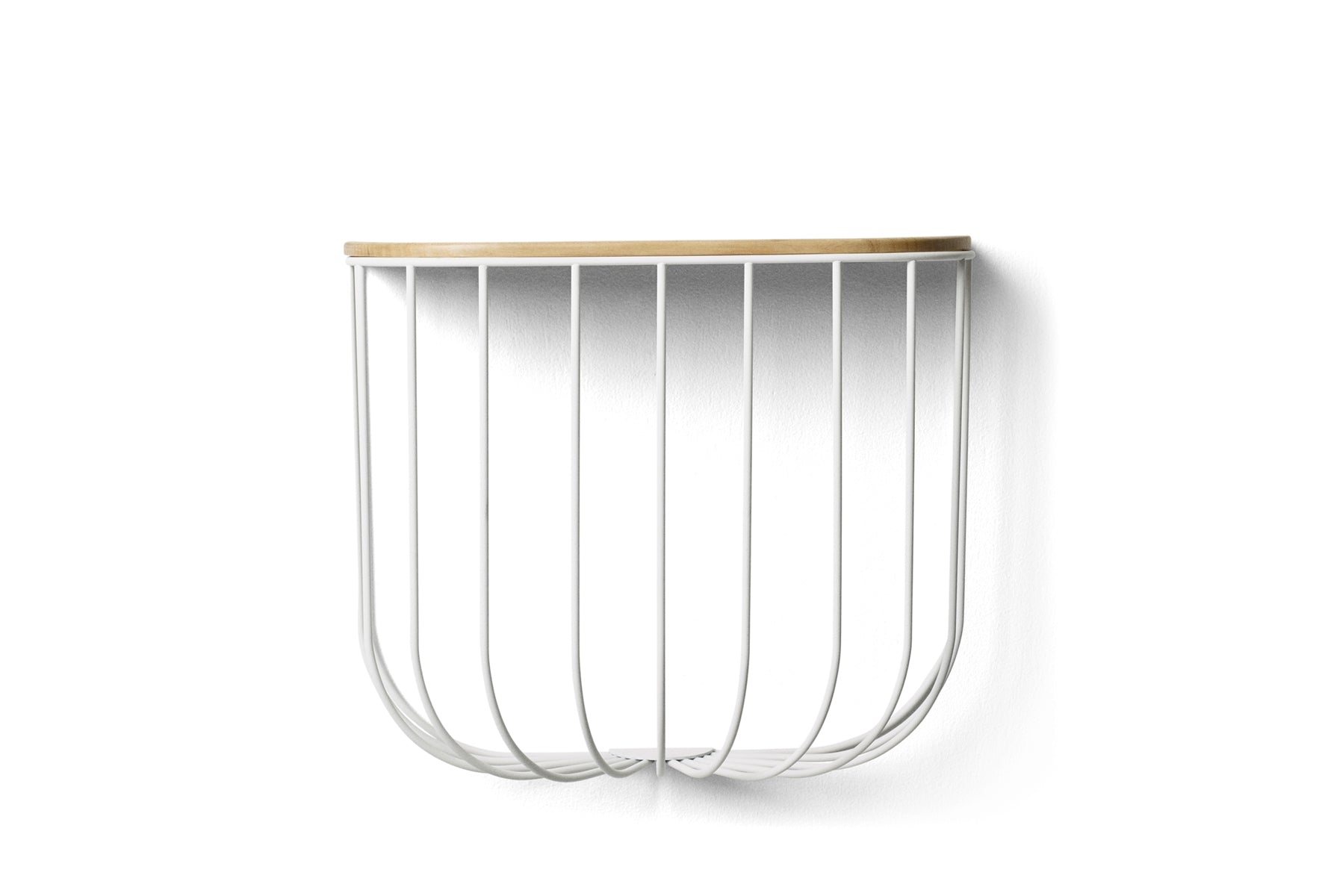 Menu Cage Shelf - White / Light Ash