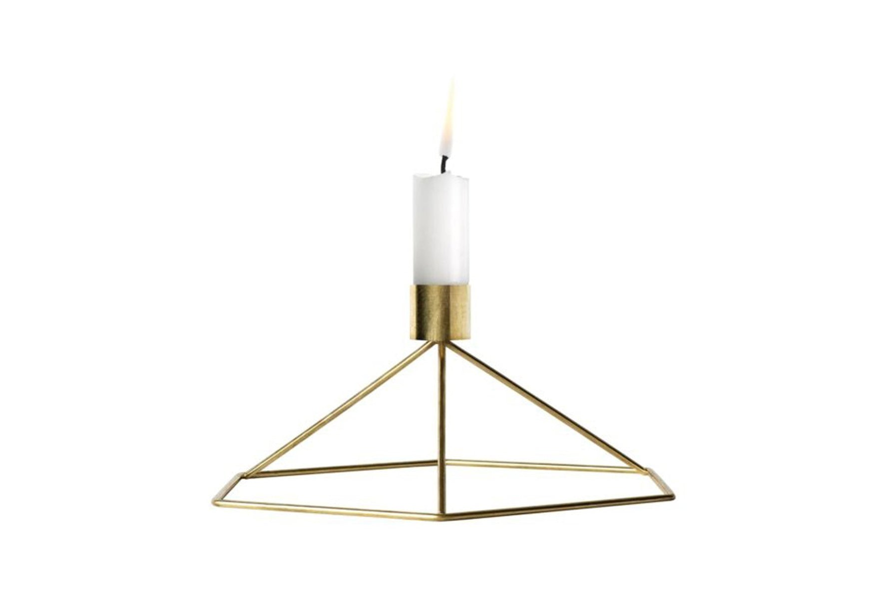 Menu POV Candleholder Table - Gold