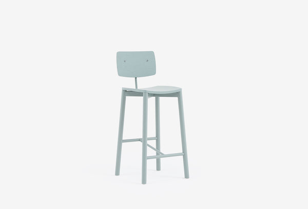 Nixon Stool with Backrest