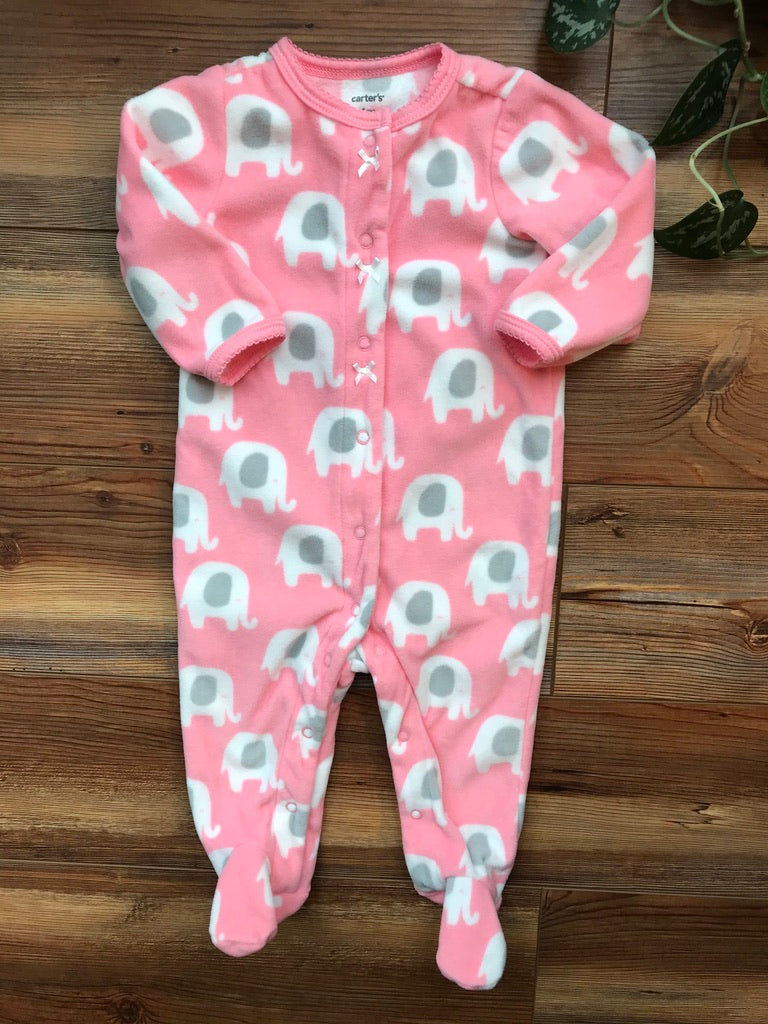 Carter's Fleece Elephant Footie Pajama