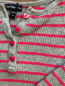 Gap Stripe Thermal Top