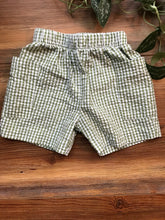 Load image into Gallery viewer, Cotton Blu Green Gingham Short