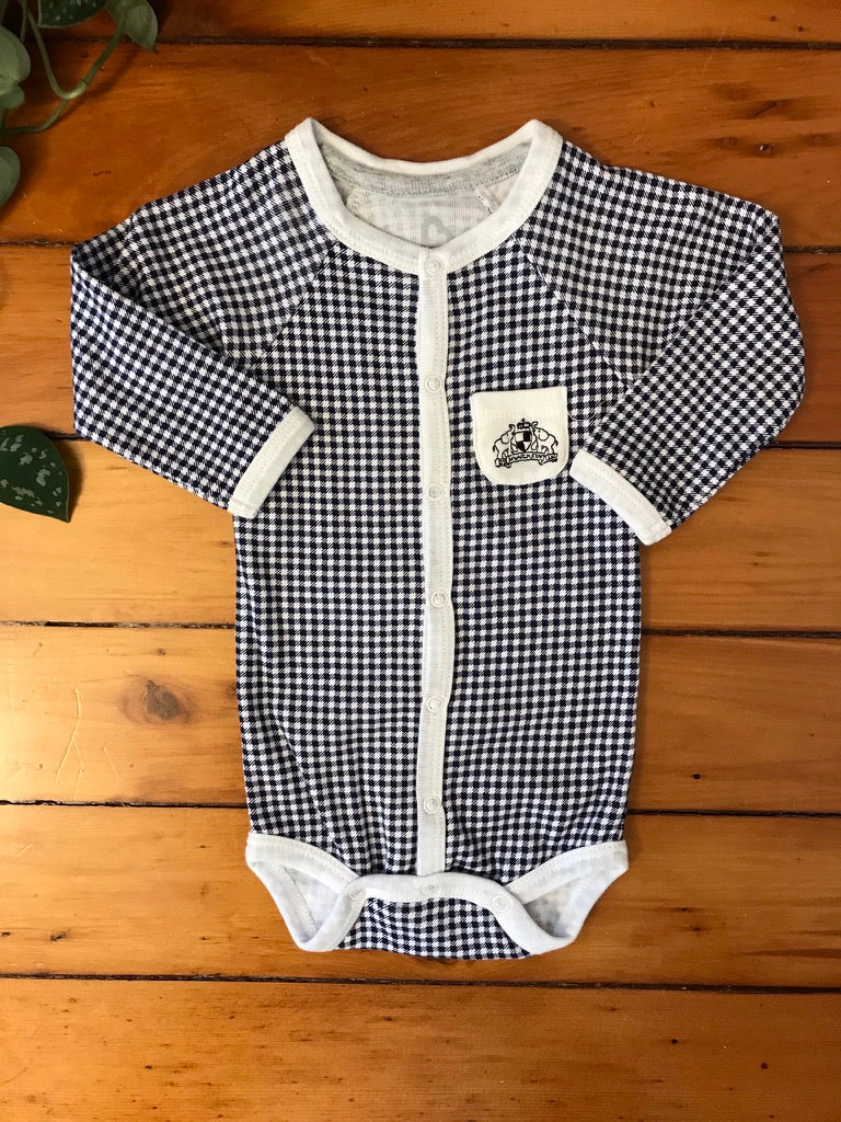 M Baby Long SLeeve Onesie