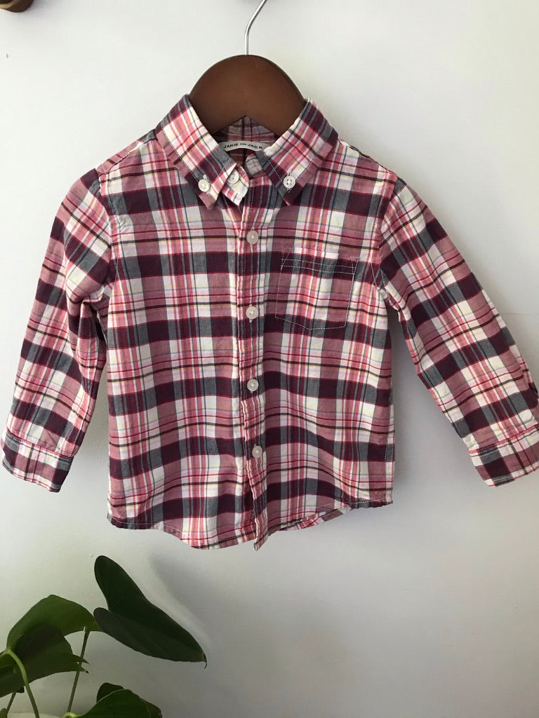 Janie and Jack Red Plaid Shirt