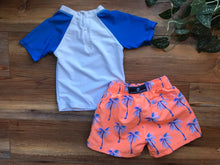 Load image into Gallery viewer, Snapper Rock Rash Guard and Swim Trunk Set