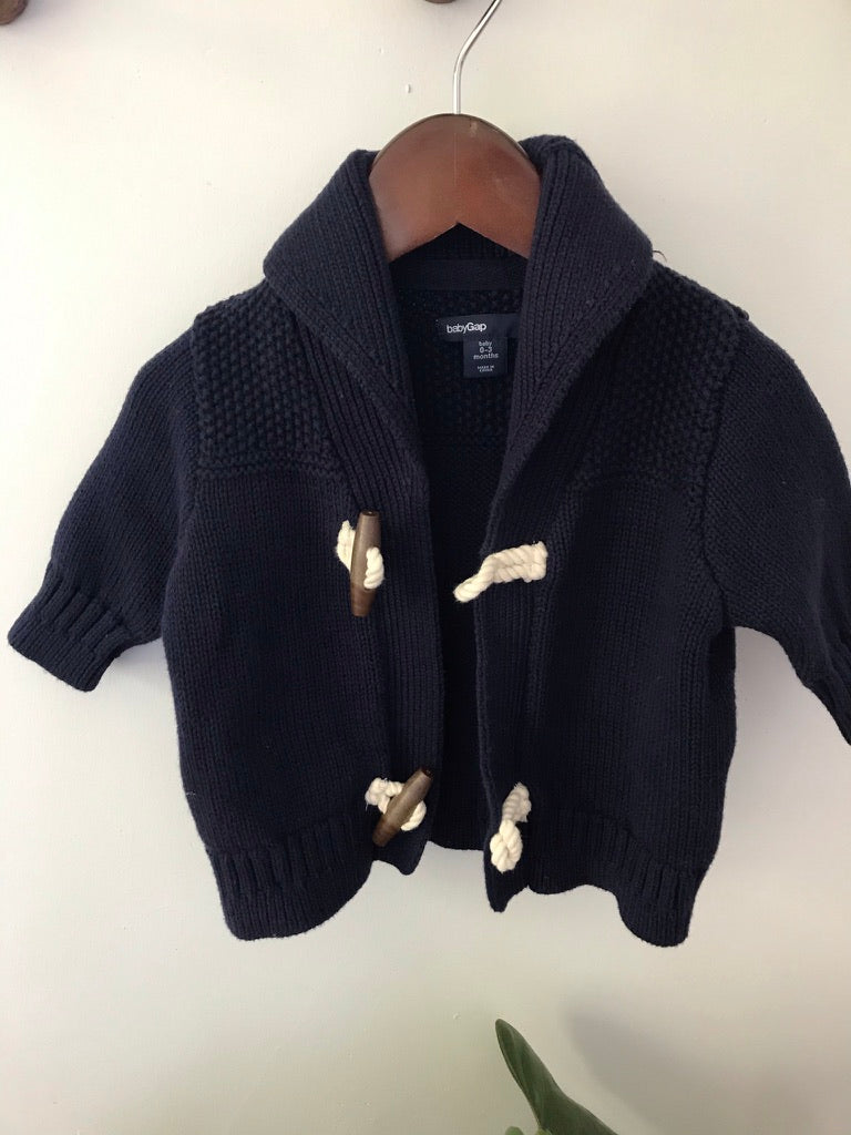 Baby Gap Navy Knit Cardigan