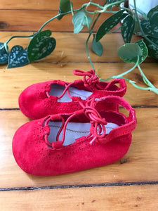 Mayoral Red Suede Mary Jane Shoes