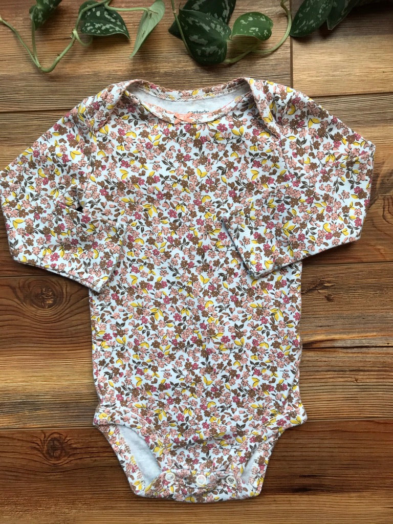 Carter's Floral Long Sleeve Onesie