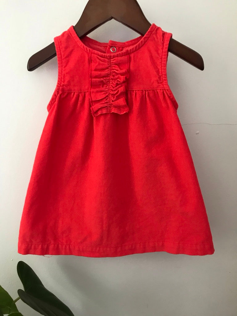 Carter's Red Corduroy Dress